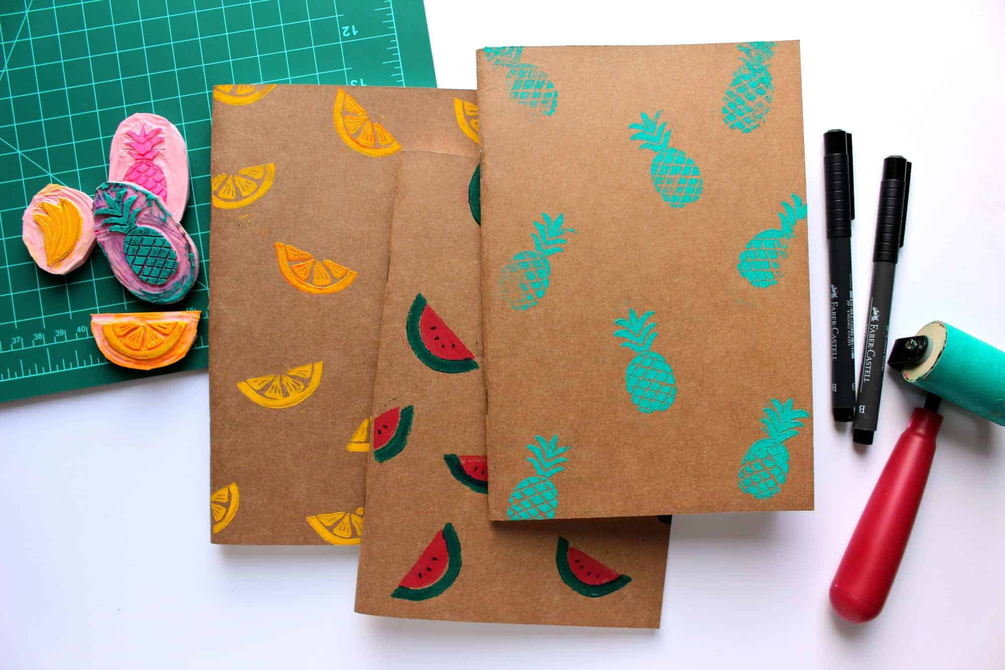 Diy Fruity Print Moleskine Fish Amp Bull