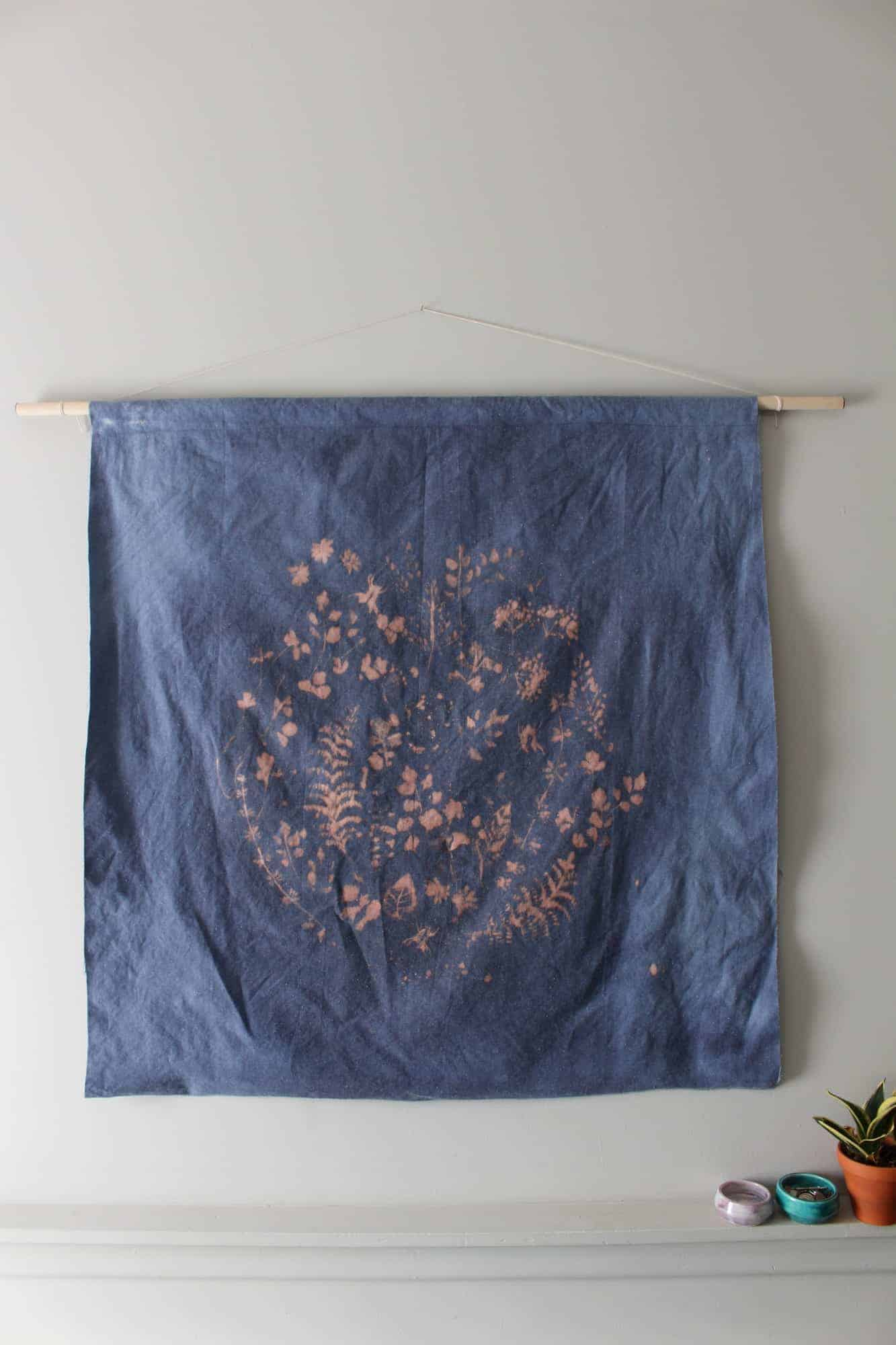 Diy Cyanotype Wall Hanging Fish Amp Bull