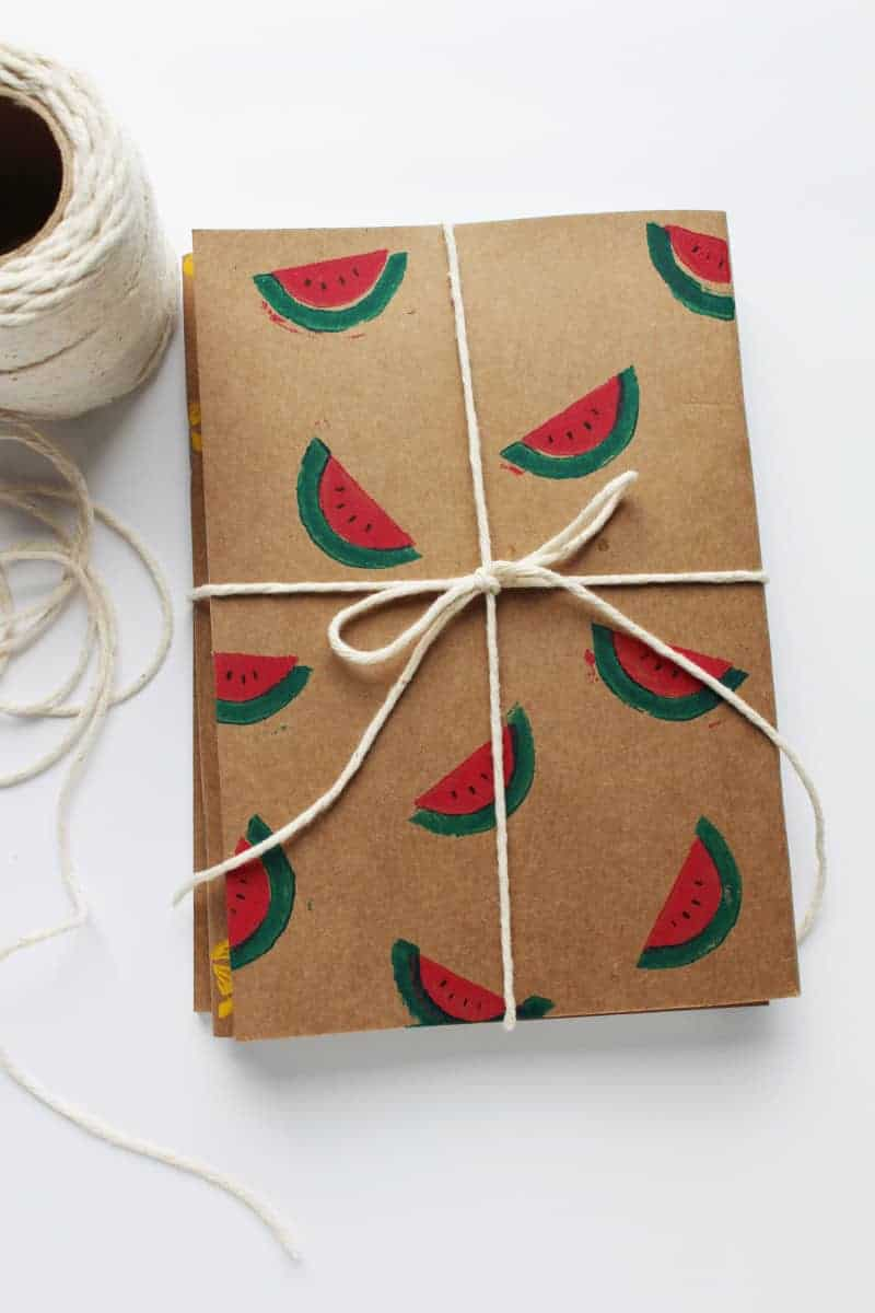 DIY Fruity Print Moleskine