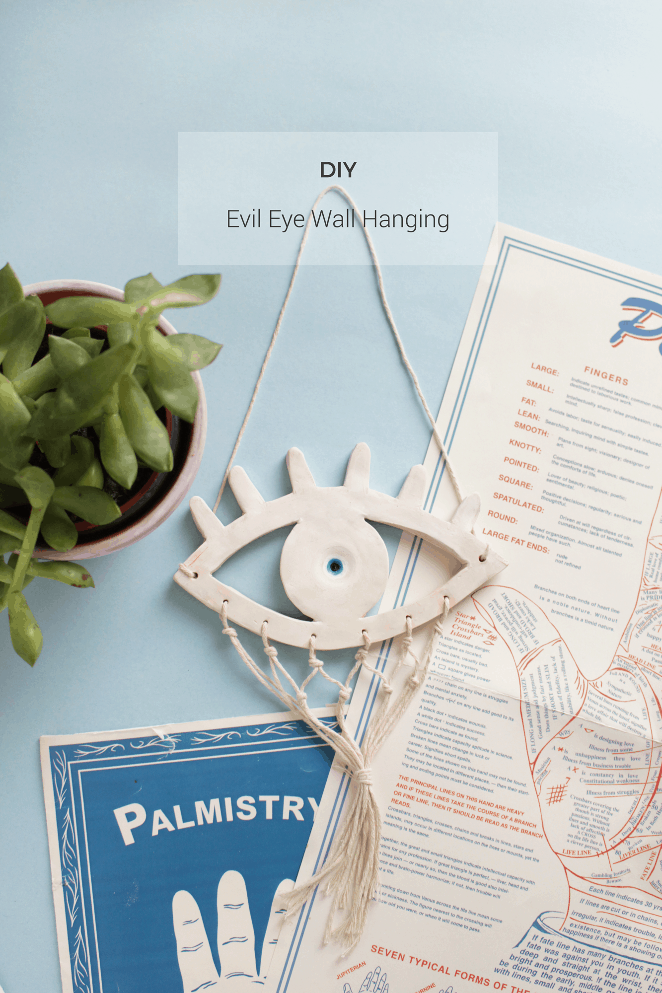 DIY Evil Eye Wall Hanging