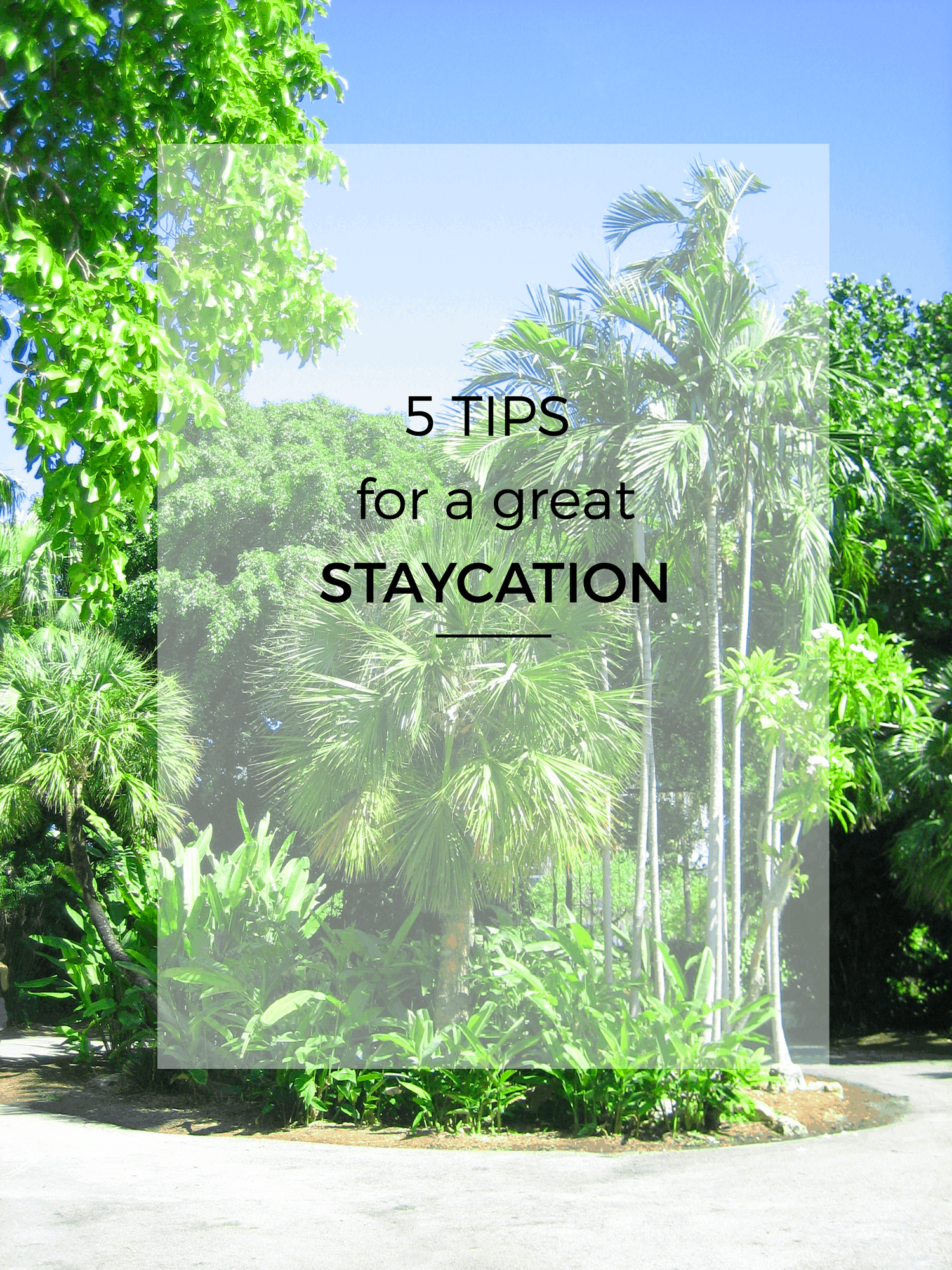 5 Tips for a Great Staycation