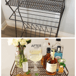 Before & After | Record Rack to Bar Cart