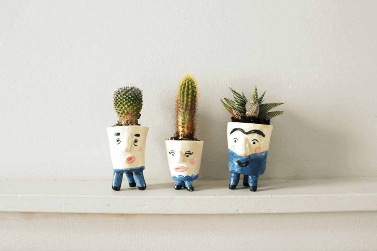 DIY Mini Face Planters | Fish & Bull