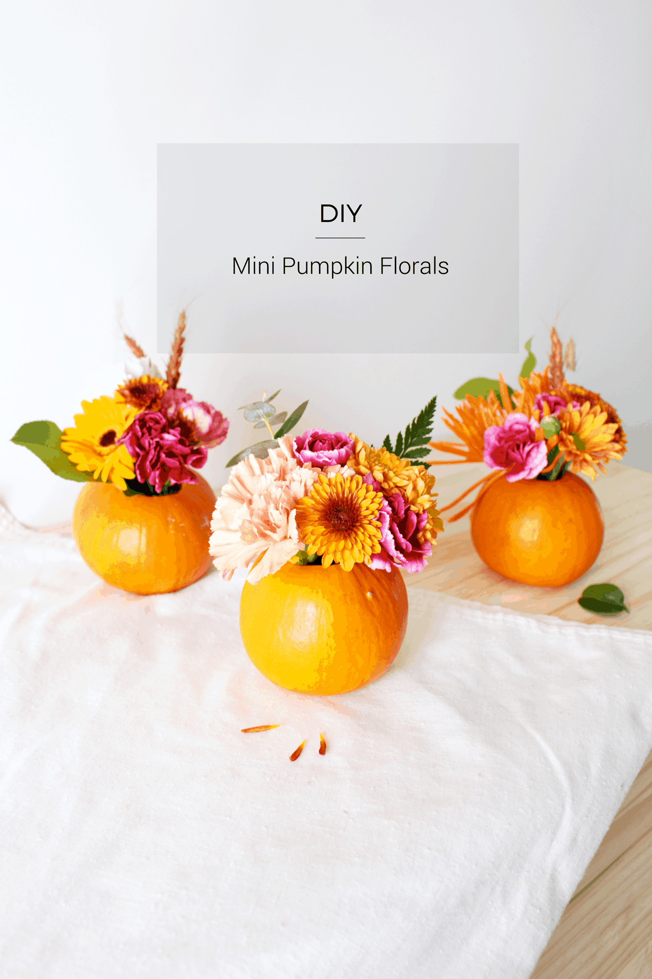 DIY Mini Pumpkin Florals