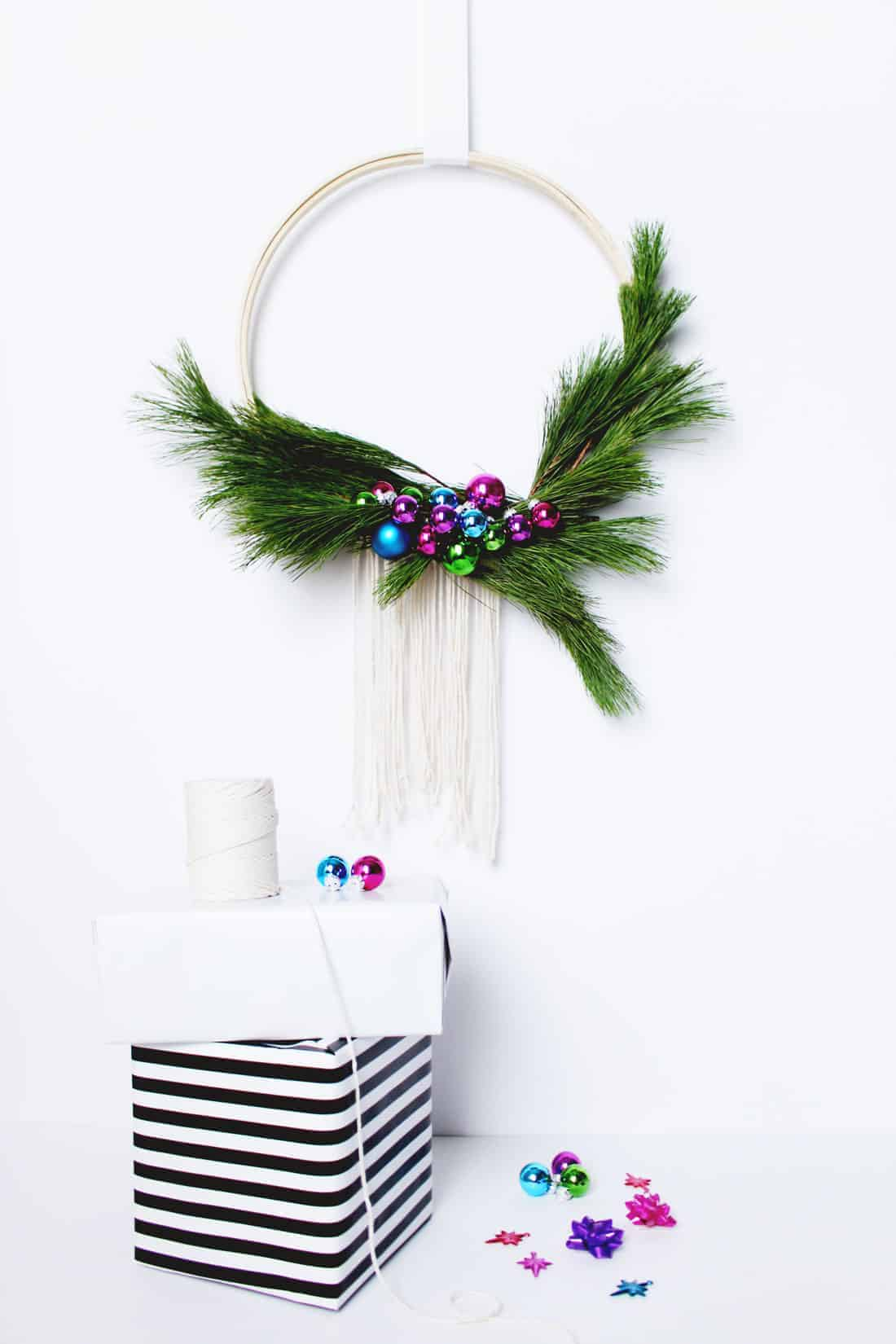 DIY Scandinavian Style Wreath