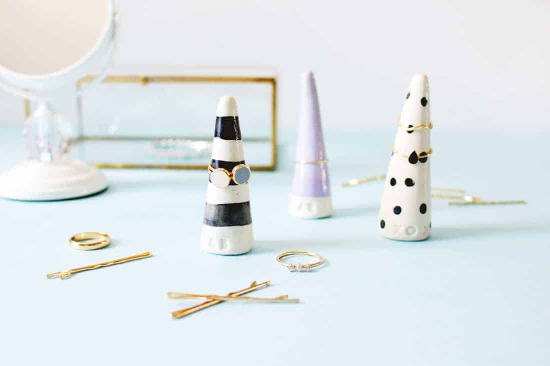 DIY Monogrammed Ring Cones on Brit + Co