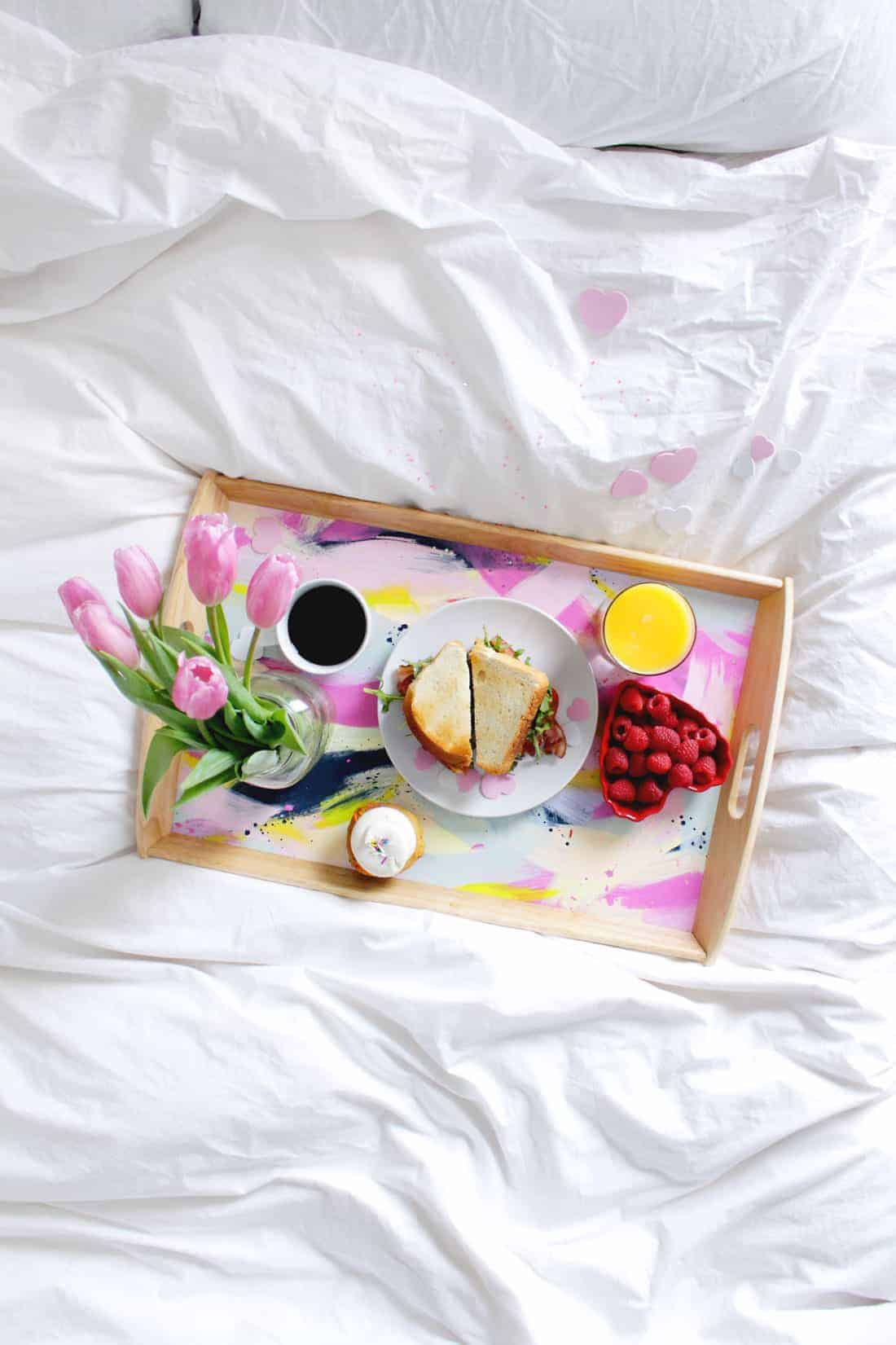 DIY Valentines Breakfast in Bed Tray on Brit + Co
