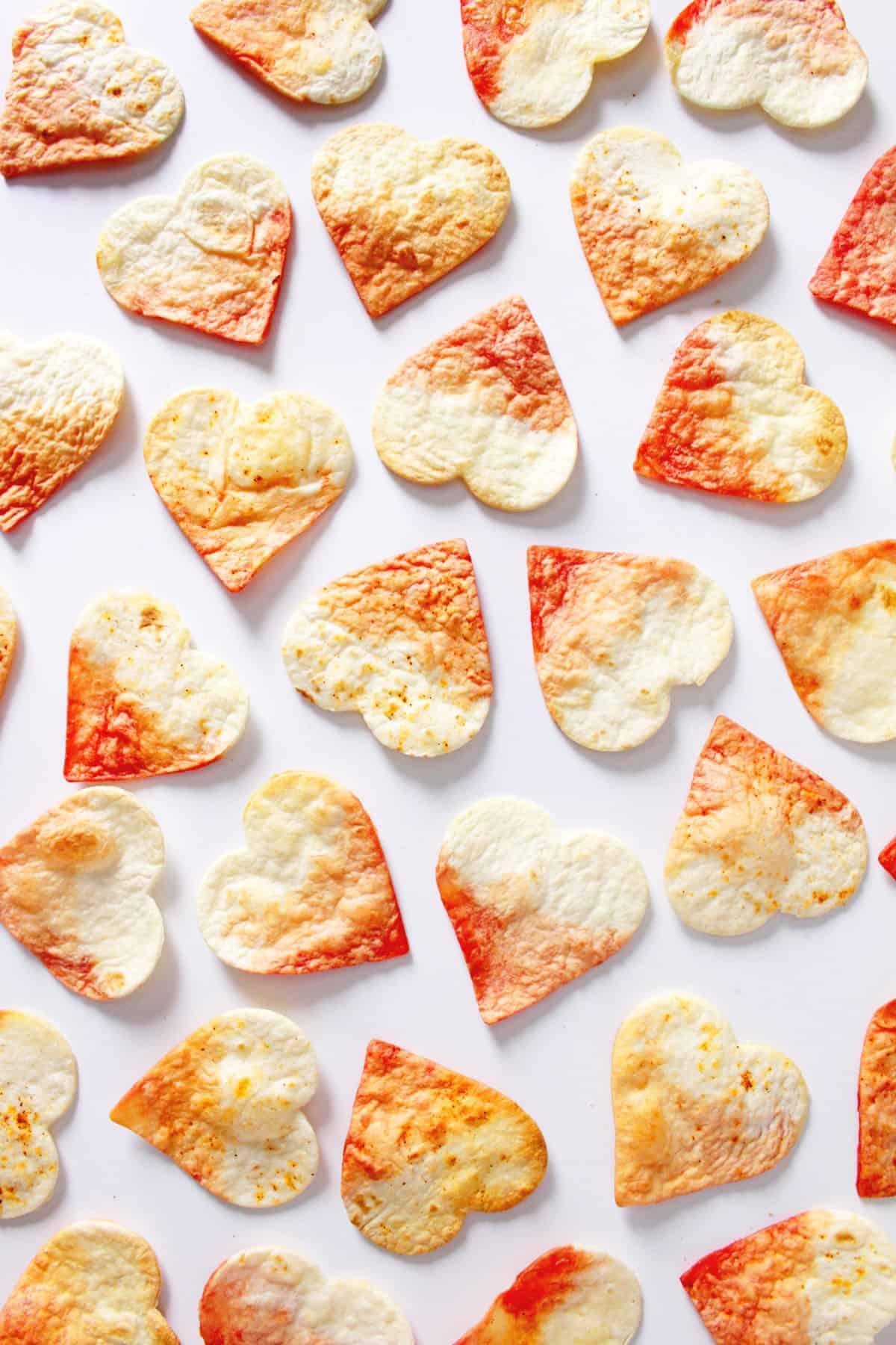 Valentine's Dip Dye Heart Tortilla Chips | Fish & Bull