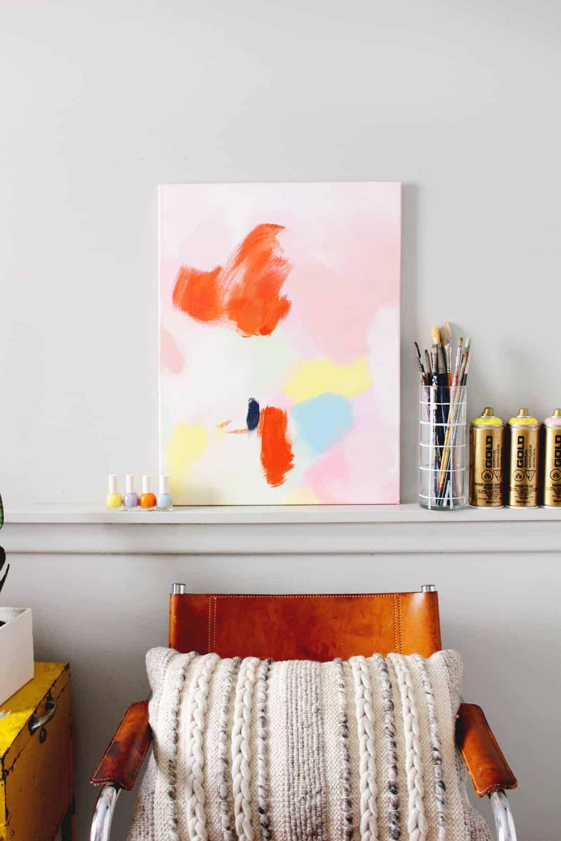 DIY Anthropologie Acrylic Wall Art on Brit + Co