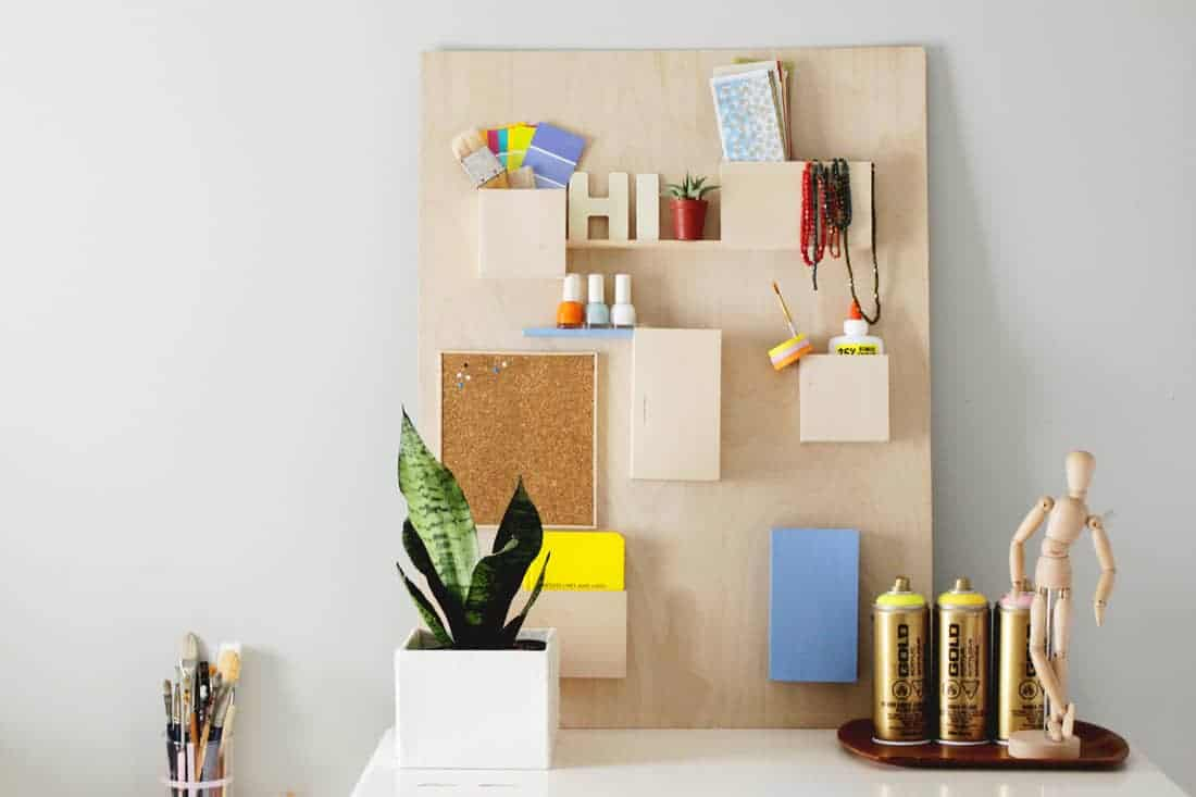 DIY Anthropologie Wall Organizer Hack on Brit + Co