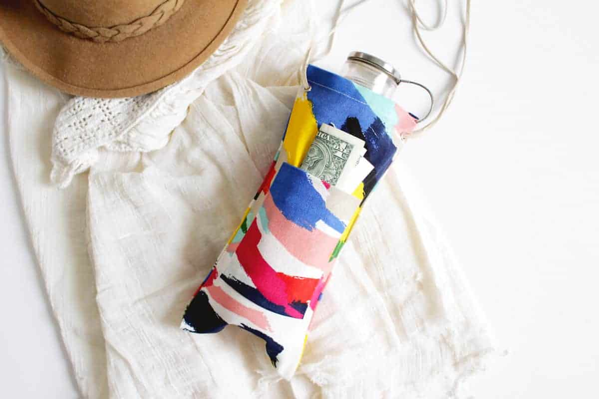 DIY No Sew Water Bottle Tote on Brit + Co