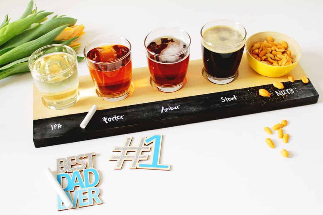 DIY Beer Tasting Flight Tray on Brit + Co | Fish & Bull