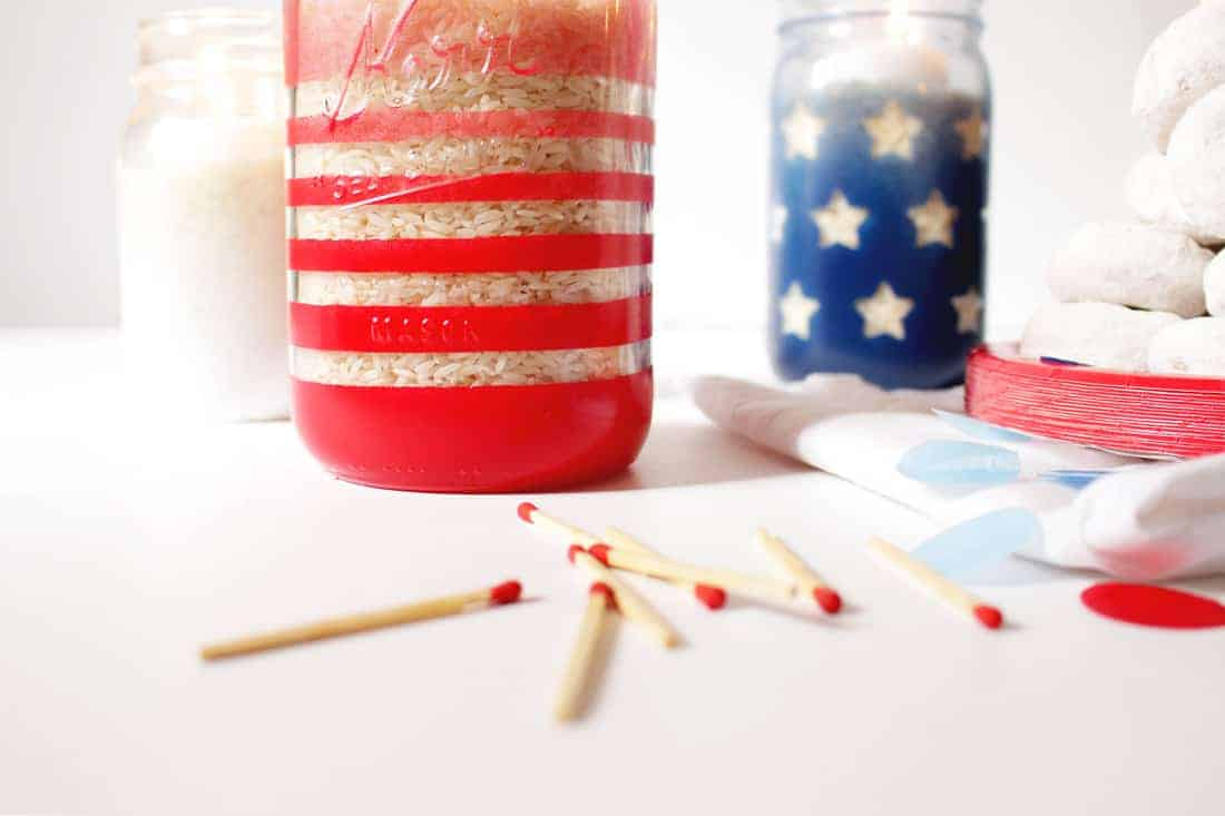 DIY Ombre Mason Jar Candles on Brit + Co