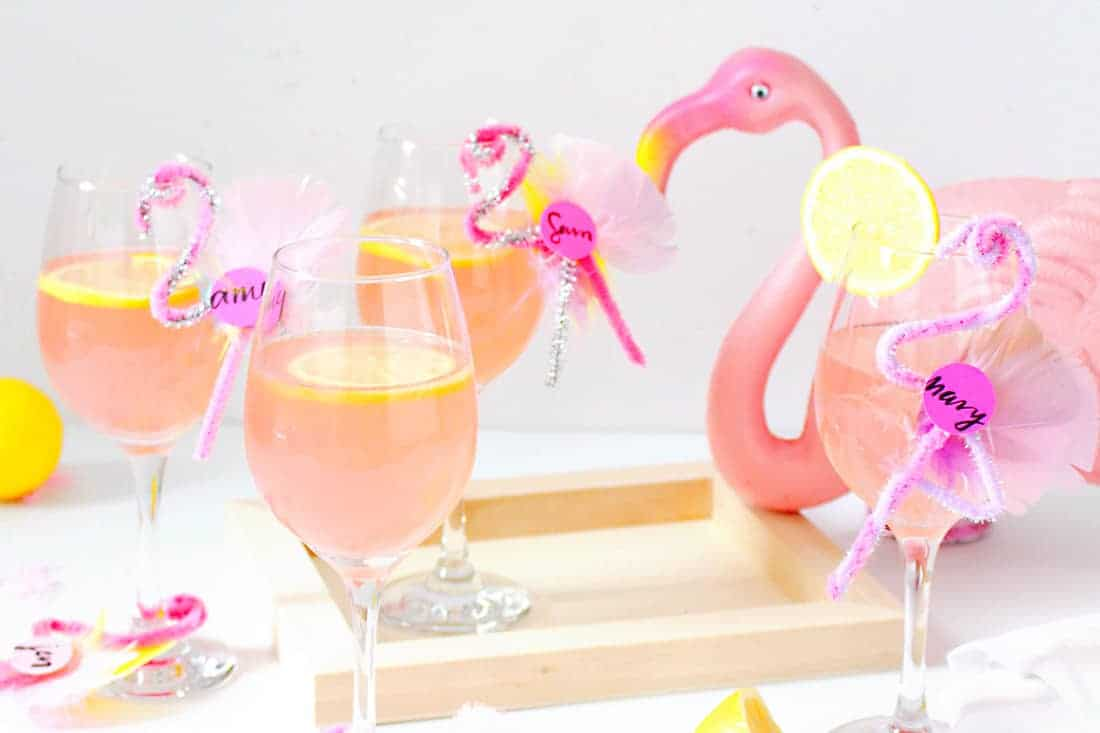 DIY Flamingo Drink Tags on Brit + Co