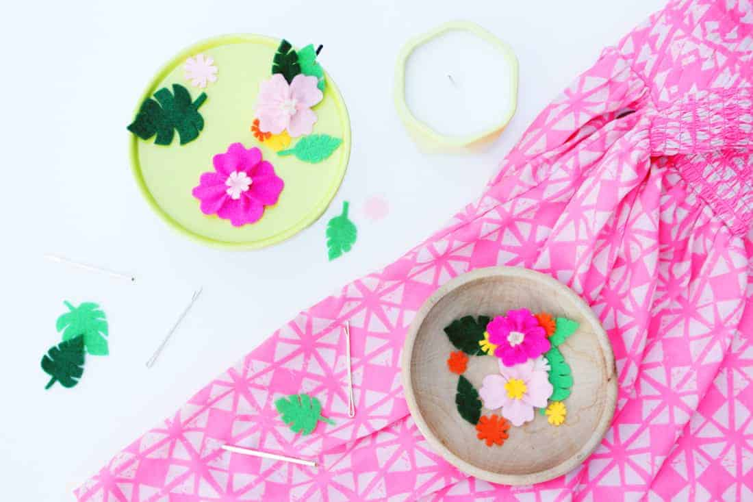 DIY Hawaiian Floral Hair Pins on Brit + Co