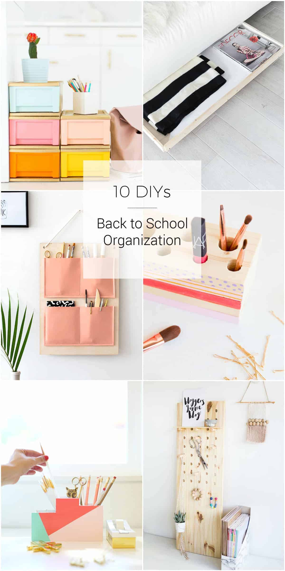 10 DIY projects for Back to school Organization