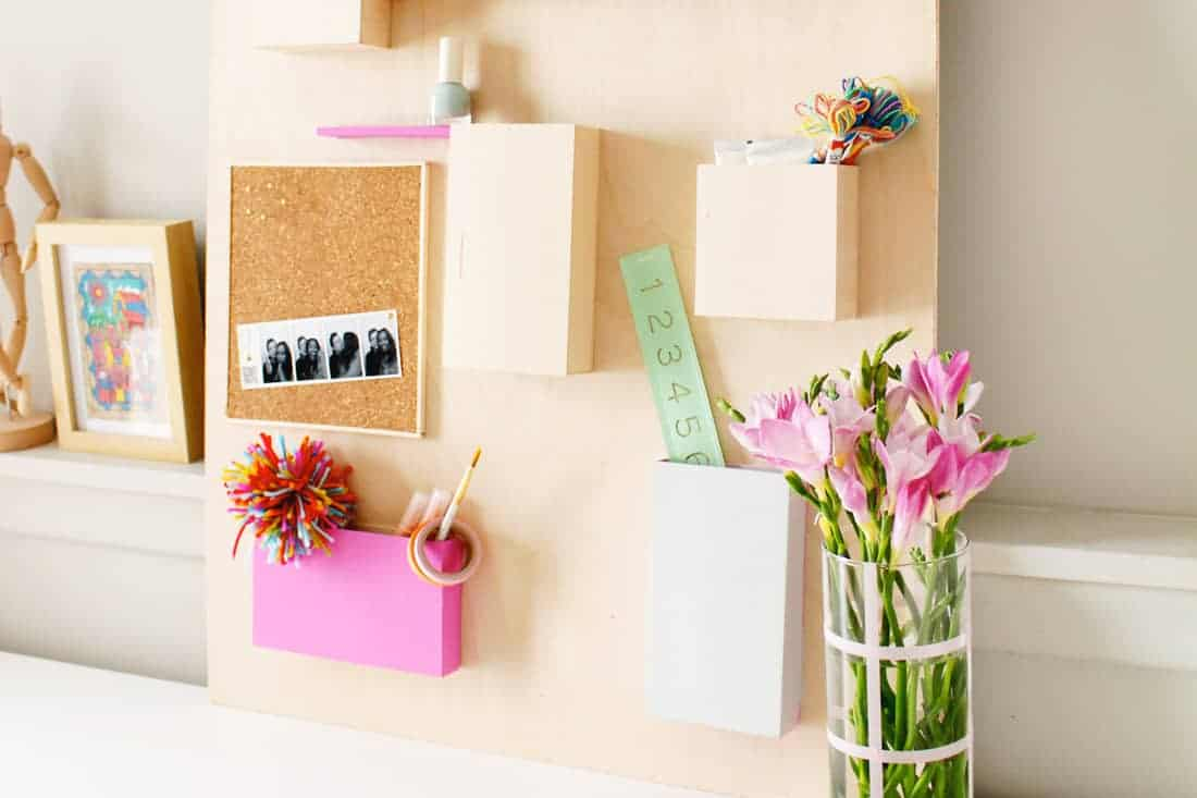 Update this DIY Anthropologie Wall Organizer Hack | Fish & Bull