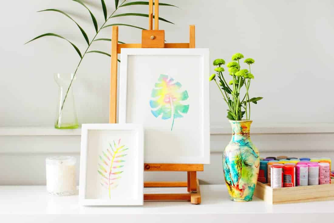 Create this Anthropologie-inspired DIY watercolor wall art for your college dorm room