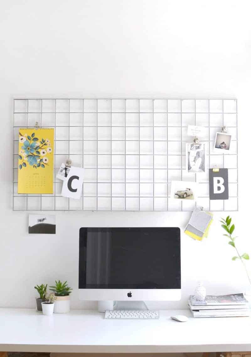 DIY Mesh Mood Board   10 DIY Projects for Back to School Organization