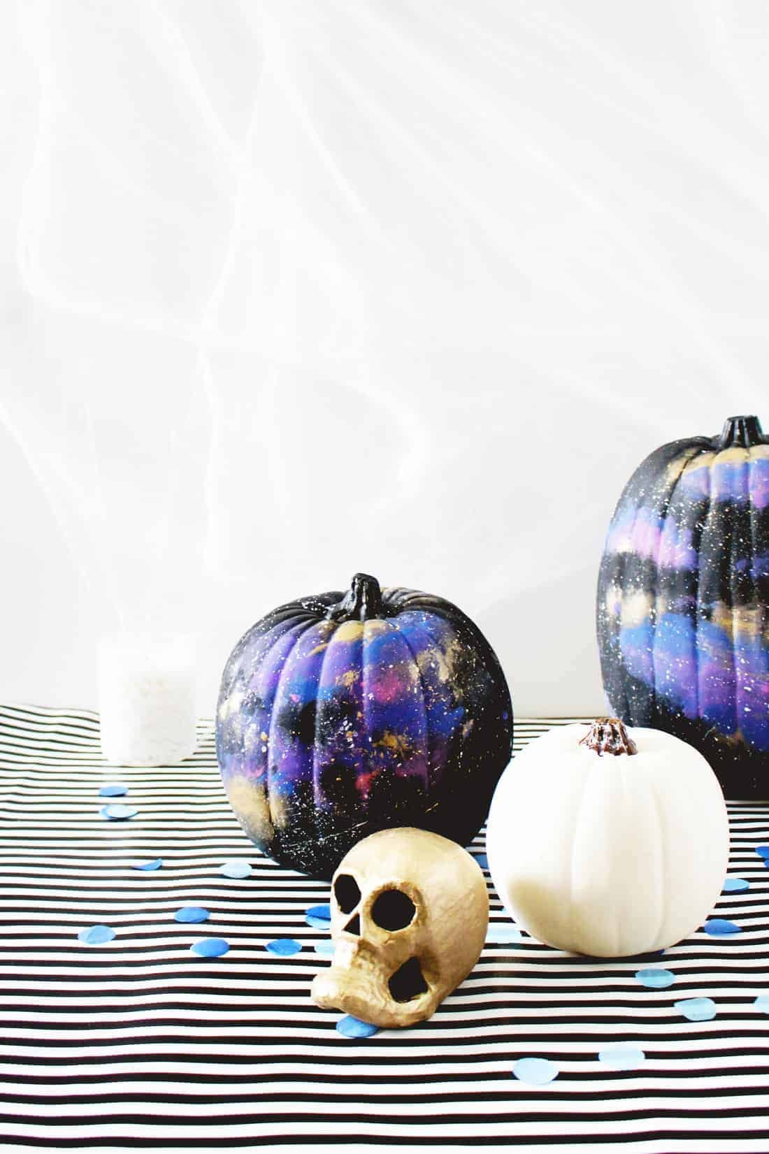 DIY No-Carve Cosmic Pumpkins on Brit + Co