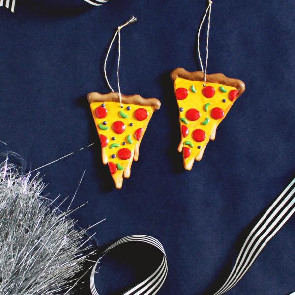DIY Cheesy Pizza Ornament for Christmas