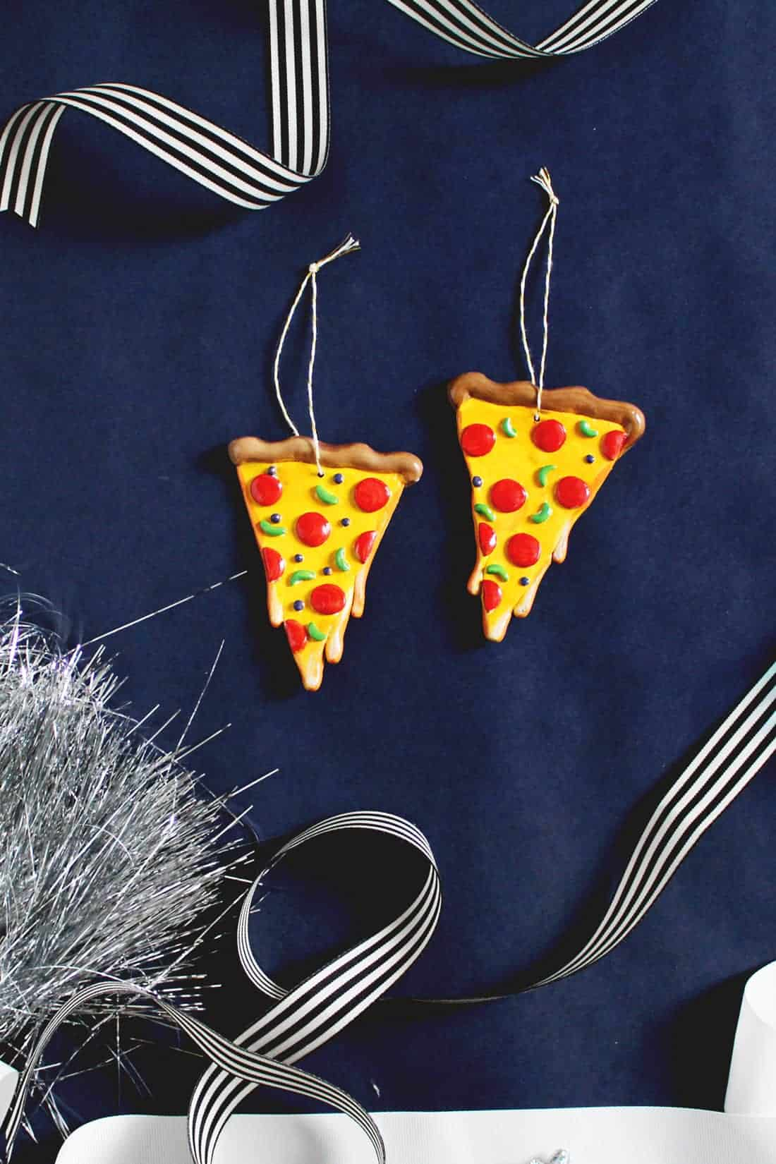 DIY Cheesy Pizza Ornament for Christmas | Fish & Bull