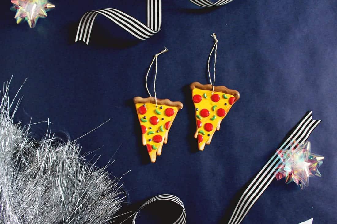 DIY Cheesy Pizza Ornament for Christmas | Fish & Bull