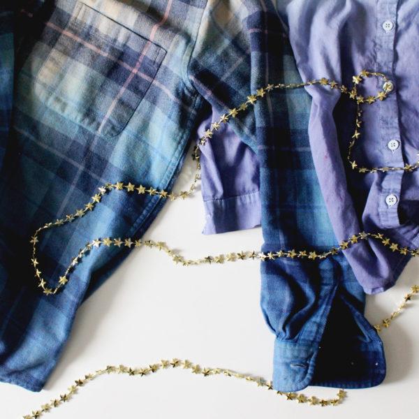 DIY Dip Dye Flannel Shirt on Brit + Co
