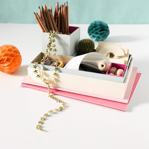 DIY Nesting Desk Organizer on Sugar & Cloth
