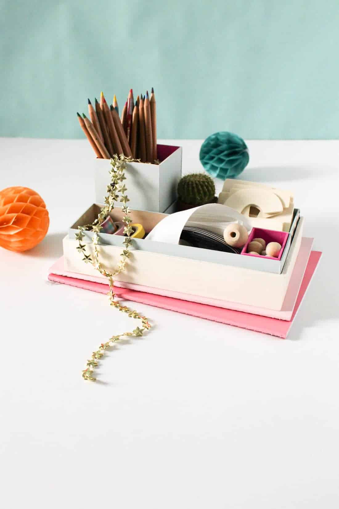 DIY Nesting Desk Organizer on Sugar & Cloth