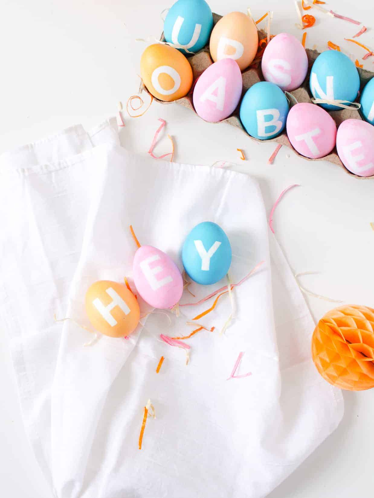 DIY Typography Easter Eggs | Fish & Bull
