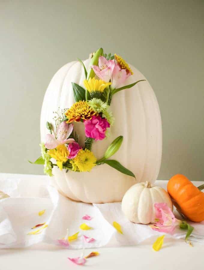 DIY Floral Monogram Pumpkin on Martha Stewart
