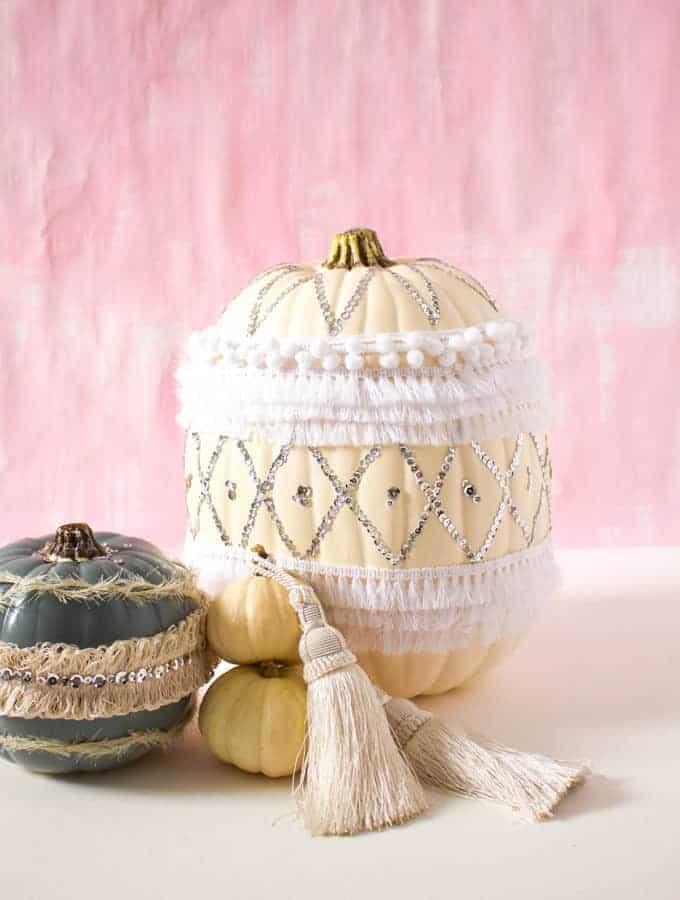 DIY Moroccan Style Sequin Pumpkin