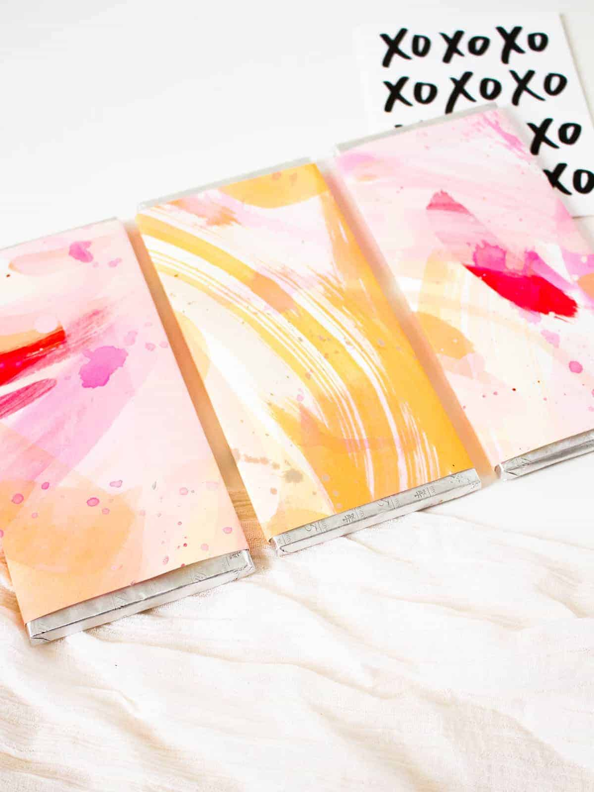 DIY Painted Chocolate Bars for Valentine's Day | Fish & Bull