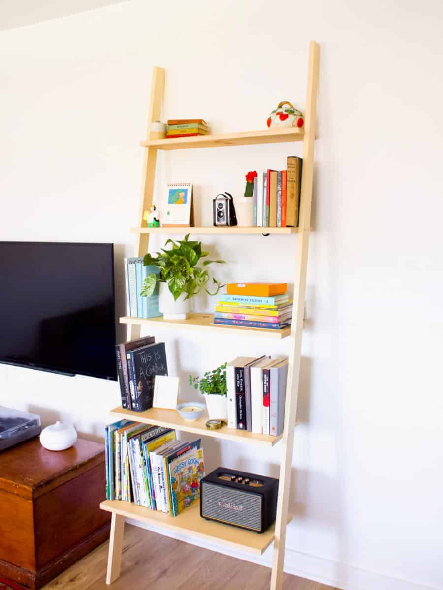 How To Build A Diy Leaning Bookshelf Fish Bull