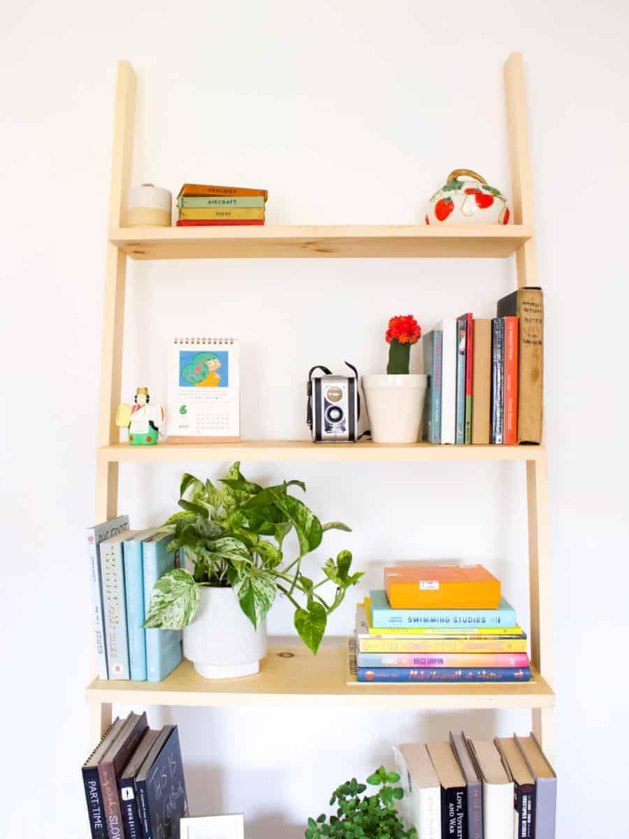 How to Build a DIY Leaning Bookshelf   Fish & Bull